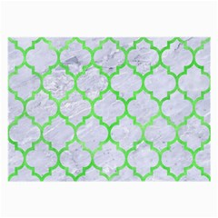 Tile1 (r) White Marble & Green Watercolor Large Glasses Cloth