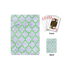 Tile1 (r) White Marble & Green Watercolor Playing Cards (mini)