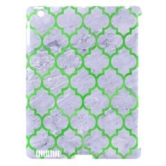 Tile1 (r) White Marble & Green Watercolor Apple Ipad 3/4 Hardshell Case (compatible With Smart Cover)