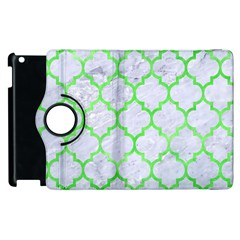 Tile1 (r) White Marble & Green Watercolor Apple Ipad 3/4 Flip 360 Case
