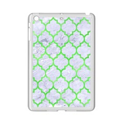 Tile1 (r) White Marble & Green Watercolor Ipad Mini 2 Enamel Coated Cases