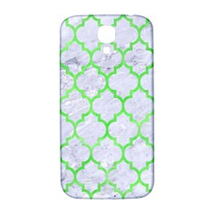 Tile1 (r) White Marble & Green Watercolor Samsung Galaxy S4 I9500/i9505  Hardshell Back Case