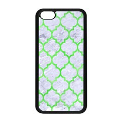Tile1 (r) White Marble & Green Watercolor Apple Iphone 5c Seamless Case (black)