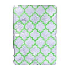 Tile1 (r) White Marble & Green Watercolor Samsung Galaxy Note 10 1 (p600) Hardshell Case