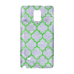Tile1 (r) White Marble & Green Watercolor Samsung Galaxy Note 4 Hardshell Case