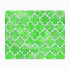 Tile1 White Marble & Green Watercolor Small Glasses Cloth
