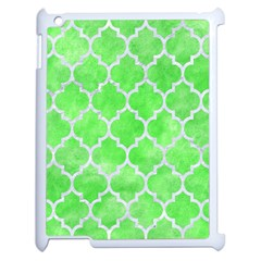 Tile1 White Marble & Green Watercolor Apple Ipad 2 Case (white)