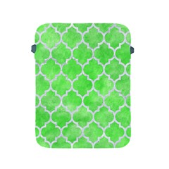 Tile1 White Marble & Green Watercolor Apple Ipad 2/3/4 Protective Soft Cases
