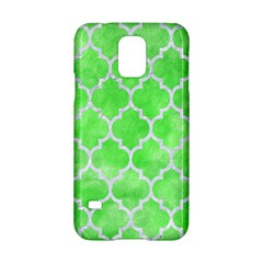 Tile1 White Marble & Green Watercolor Samsung Galaxy S5 Hardshell Case