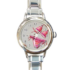 Urban T Shirts, Tropical Swim Suits, Running Shoes, Phone Cases Round Italian Charm Watch