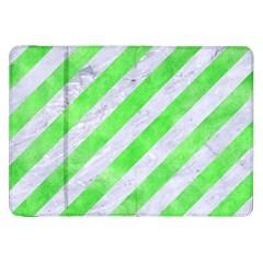 Stripes3 White Marble & Green Watercolor (r) Samsung Galaxy Tab 8 9  P7300 Flip Case
