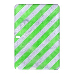 Stripes3 White Marble & Green Watercolor (r) Samsung Galaxy Tab Pro 10 1 Hardshell Case