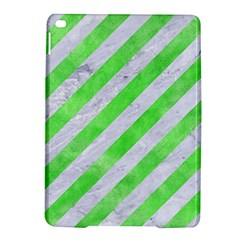 Stripes3 White Marble & Green Watercolor (r) Ipad Air 2 Hardshell Cases