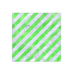 Stripes3 White Marble & Green Watercolor (r) Satin Bandana Scarf