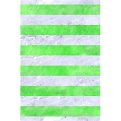 Stripes2 White Marble & Green Watercolor 5 5  X 8 5  Notebooks