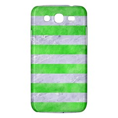 Stripes2 White Marble & Green Watercolor Samsung Galaxy Mega 5 8 I9152 Hardshell Case