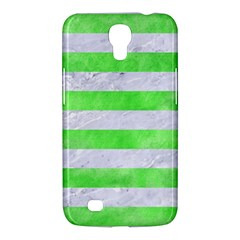 Stripes2 White Marble & Green Watercolor Samsung Galaxy Mega 6 3  I9200 Hardshell Case
