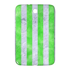 Stripes1 White Marble & Green Watercolor Samsung Galaxy Note 8 0 N5100 Hardshell Case