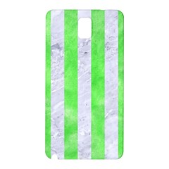 Stripes1 White Marble & Green Watercolor Samsung Galaxy Note 3 N9005 Hardshell Back Case
