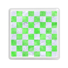 Square1 White Marble & Green Watercolor Memory Card Reader (square)