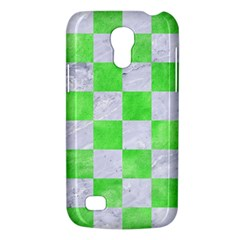 Square1 White Marble & Green Watercolor Samsung Galaxy S4 Mini (gt I9190) Hardshell Case