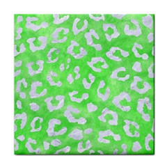 Skin5 White Marble & Green Watercolor (r) Face Towel by trendistuff