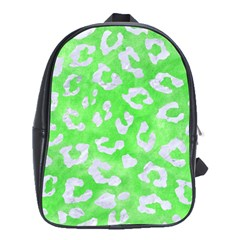 Skin5 White Marble & Green Watercolor (r) School Bag (xl)