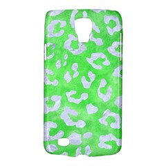 Skin5 White Marble & Green Watercolor (r) Samsung Galaxy S4 Active (i9295) Hardshell Case
