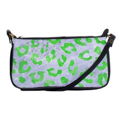 Skin5 White Marble & Green Watercolor Shoulder Clutch Bags