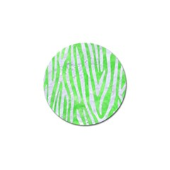 Skin4 White Marble & Green Watercolor (r) Golf Ball Marker