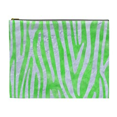 Skin4 White Marble & Green Watercolor (r) Cosmetic Bag (xl)