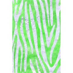 Skin4 White Marble & Green Watercolor (r) 5 5  X 8 5  Notebooks