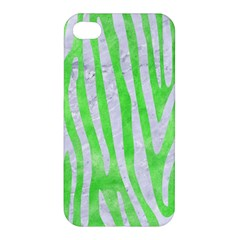 Skin4 White Marble & Green Watercolor (r) Apple Iphone 4/4s Hardshell Case by trendistuff