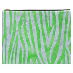 Skin4 White Marble & Green Watercolor (r) Cosmetic Bag (xxxl)