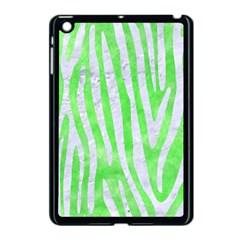 Skin4 White Marble & Green Watercolor (r) Apple Ipad Mini Case (black)