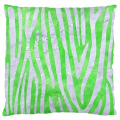 Skin4 White Marble & Green Watercolor (r) Large Flano Cushion Case (two Sides)