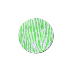 Skin4 White Marble & Green Watercolor Golf Ball Marker