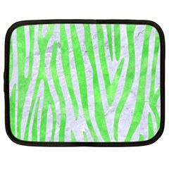 Skin4 White Marble & Green Watercolor Netbook Case (xxl)