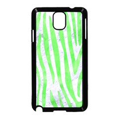 Skin4 White Marble & Green Watercolor Samsung Galaxy Note 3 Neo Hardshell Case (black) by trendistuff