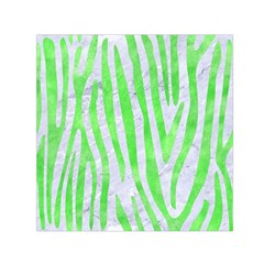 Skin4 White Marble & Green Watercolor Small Satin Scarf (square)