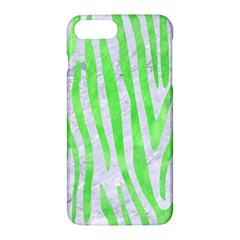 Skin4 White Marble & Green Watercolor Apple Iphone 7 Plus Hardshell Case