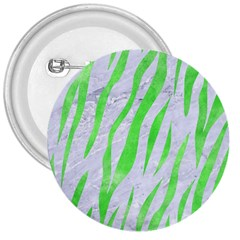 Skin3 White Marble & Green Watercolor (r) 3  Buttons