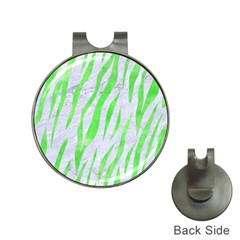 Skin3 White Marble & Green Watercolor (r) Hat Clips With Golf Markers