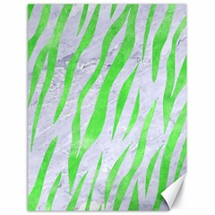Skin3 White Marble & Green Watercolor (r) Canvas 18  X 24