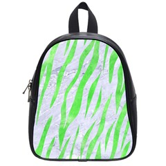 Skin3 White Marble & Green Watercolor (r) School Bag (small)