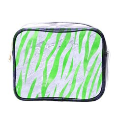 Skin3 White Marble & Green Watercolor (r) Mini Toiletries Bags