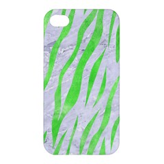 Skin3 White Marble & Green Watercolor (r) Apple Iphone 4/4s Hardshell Case
