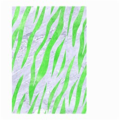 Skin3 White Marble & Green Watercolor (r) Small Garden Flag (two Sides)