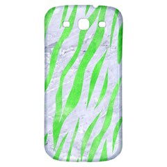 Skin3 White Marble & Green Watercolor (r) Samsung Galaxy S3 S Iii Classic Hardshell Back Case