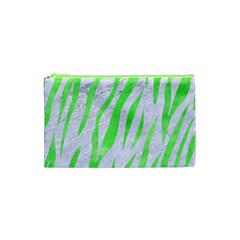 Skin3 White Marble & Green Watercolor (r) Cosmetic Bag (xs)